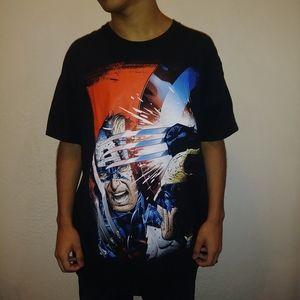 Marvel Wolverine & Captain America Tee Shirt